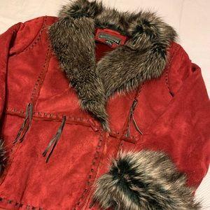 FAUX Suede Fur Coat
